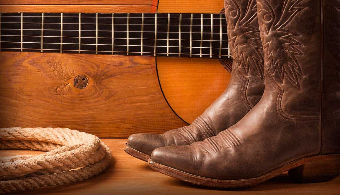 Country Boots Guitar and Rope