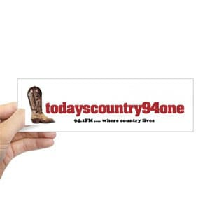 Todays Country 94One Bumber Sticker
